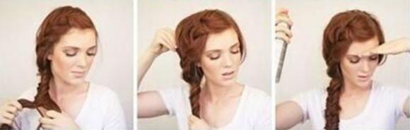 Объемная коса на бок - шаг 3