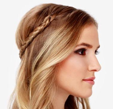 вариант осенней прически на длинные волосы