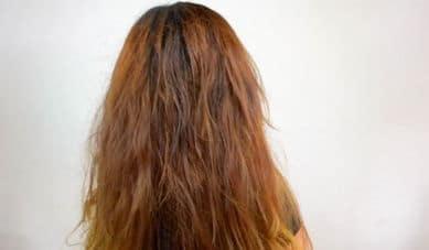 волны на волосах соляным раствором