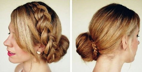 коса с пучком