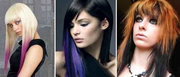 Цвет волос в асимметричной прическе