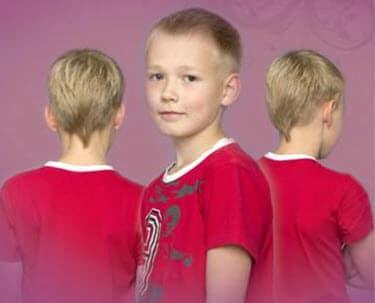 Детская стрижка с v-образным затылком