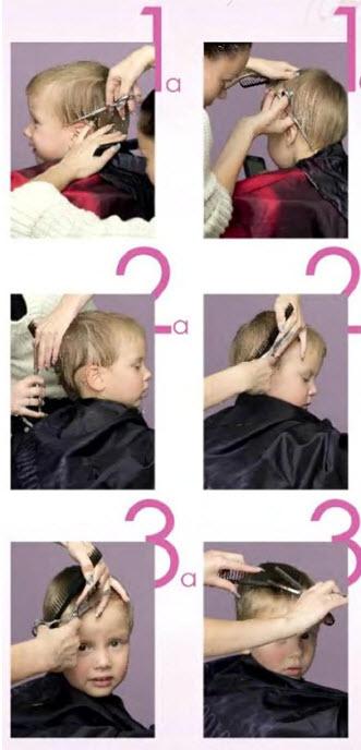 Простая стрижка для мальчика 2-3 лет