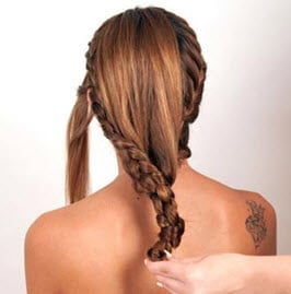 Плетение волос в одну косу