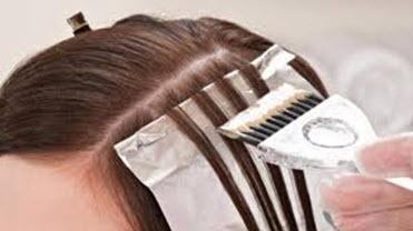 Окрашивание волос с использованием фольги