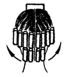 Вертикальный метод завивки на бигуди