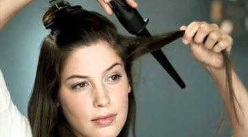 Разделение волос на верхнюю и нижнюю части