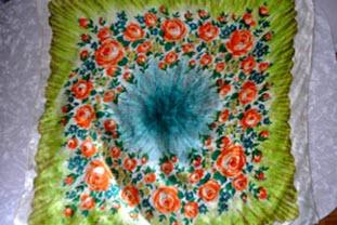 Развернутый платок