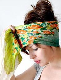 Наматывание платка на голову