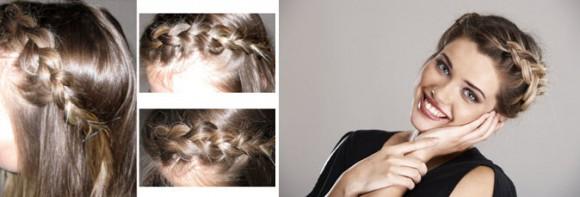 Оригинальный вариант плетения косы из челки