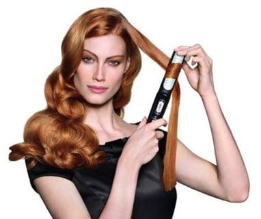 Завивка волос с помощью выпрямителя