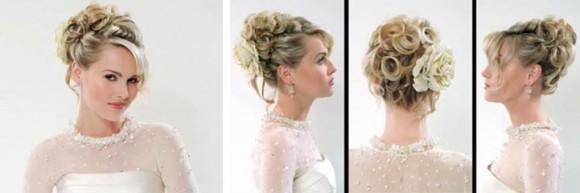 Готовую прическу на свадьбу можно украсить любым соответствующим аксессуаром