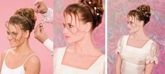 Создание красивой свадебной укладки: четвертый этап