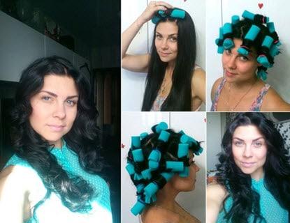 Волосы, накрученные на локсы
