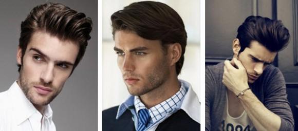 Мужская прическа в классическом стиле для волосы средней длины