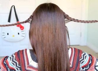 Плетение косы с другой стороны головы