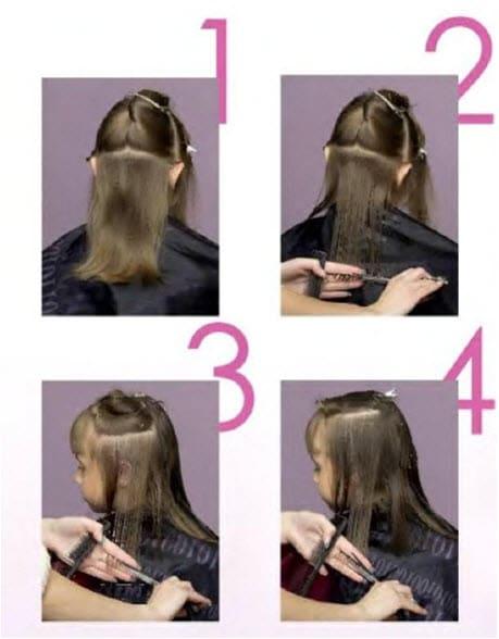 Простая прическа для волос средней длины