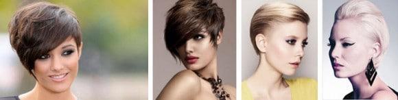 Короткие волосы, красиво уложенные стайлинговыми средствами