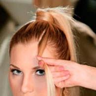 Прядка волос, выделенная из челки
