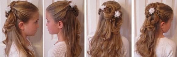 Эффектная укладка с распущенными волосами