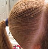 Остальные волосы собираются в высокий конский хвост