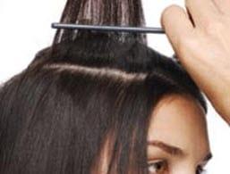 Пробор волос на голове