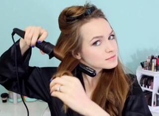 Завивка пряди волос