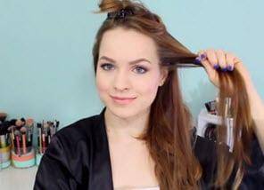 Завивка передней пряди волос