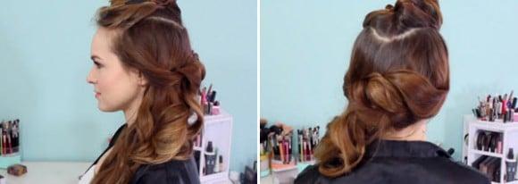 Результат, полученный после завивки волос