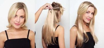 Наращивание искусственных прядок на короткие волосы