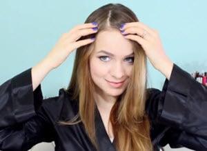 Вертикальный боковой пробор волос