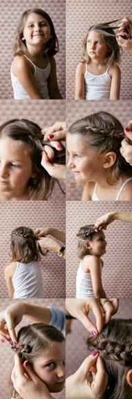 Способ создания простой прически с плетением на короткие волосы