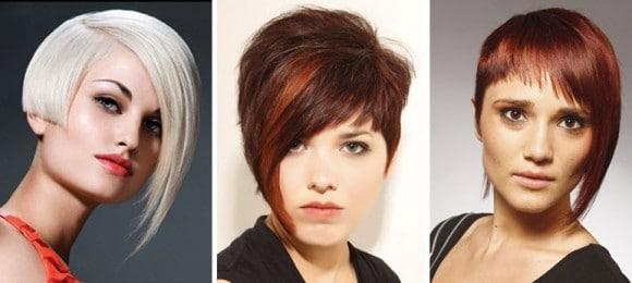 Асимметрия на короткие волосы