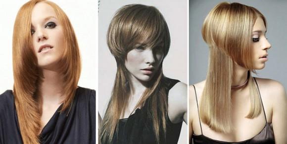 Асимметрия на длинные волосы