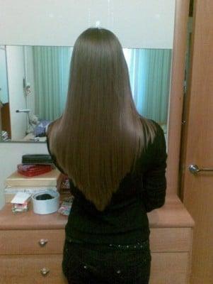 Стрижка лисий хвост отлично выглядит на распущенных волосах