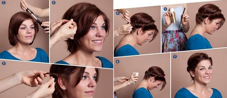 Как сделать из коротких волос красивую прическу