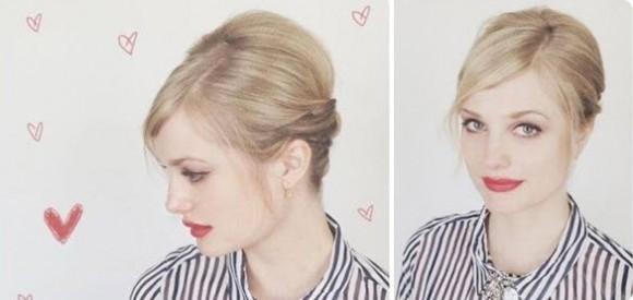 Оригинальный праздничный вариант прически для коротких волос