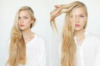 Волосы, разделенные сбоку пробором