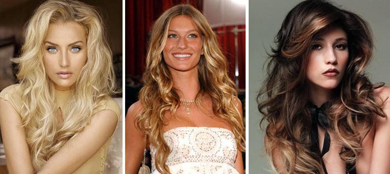 модные прически на длинные волнистые волосы