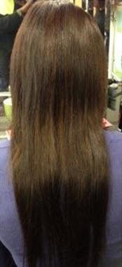 Натуральные волосы, соединенные с искусственными