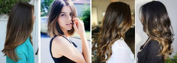 Волосы, окрашенные с использованием техники калифорнийского мелирования