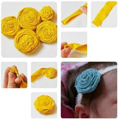 Способ создания красивого ободка для маленькой девочки
