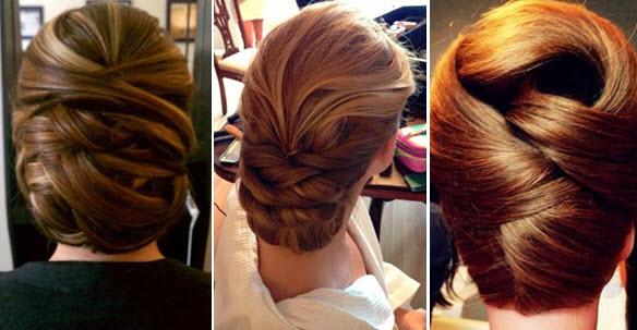 Причёска на длинные волосы для мамы невесты фото