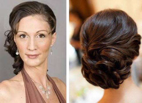 Причёски для женщин 50 лет на средние волосы на свадьбу