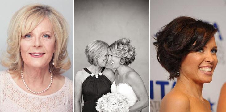 Прическа мамы невесты на короткие волосы