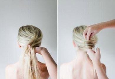Наматывание на пальцы собранных волос