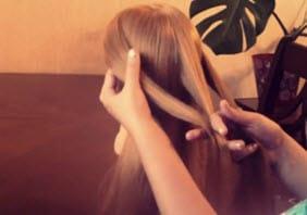 Три отделенные прядки волос