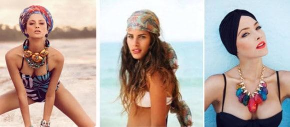 Пляжные прически с платком