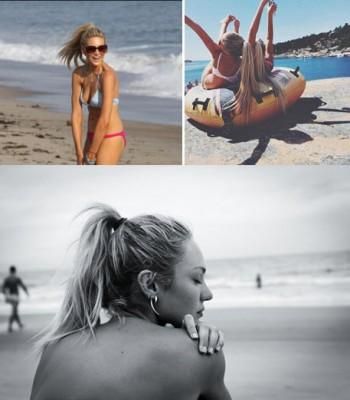 Пляжные прически с высоким конским хвостом