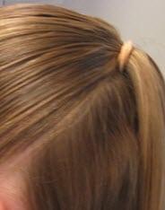 Верхняя часть волос, собранная в тугой хвост
